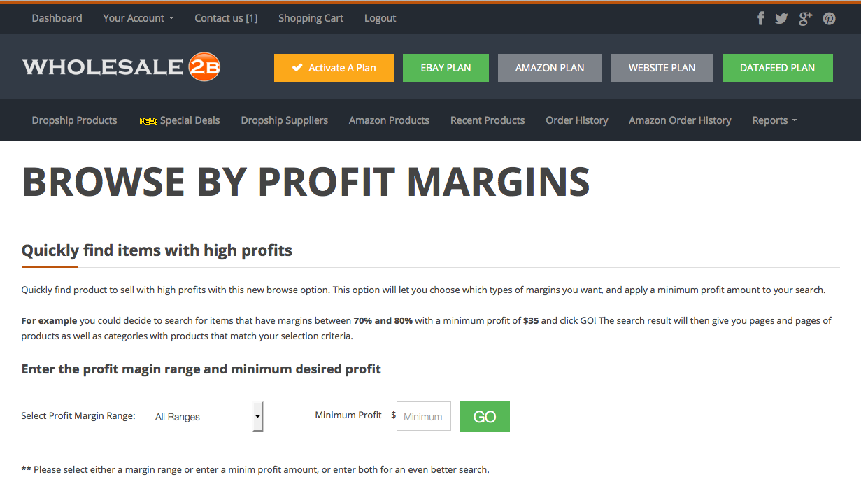 Find dropship products with high profits